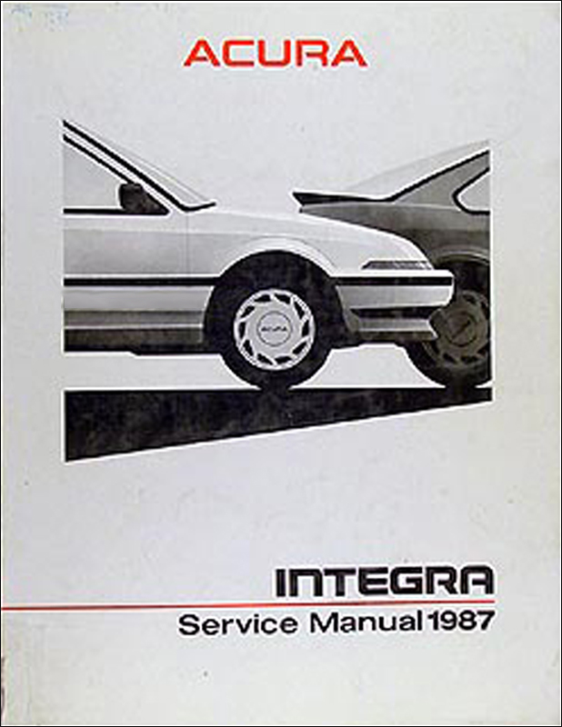 1987 Acura Integra Shop Manual Original