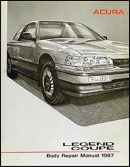 1987-1990 Acura Legend Coupe Original Body Repair Manual