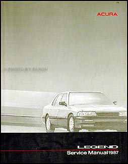 1987 Acura Legend Sedan Shop Manual Original
