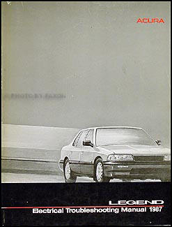 1987 Acura Legend Sedan Electrical Troubleshooting Manual Original