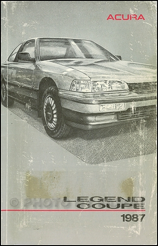 1987 Acura Legend Coupe Owners Manual Original