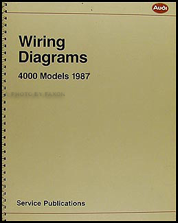 1987 4000 and Audi Coupe GT Wiring Diagram Manual Original