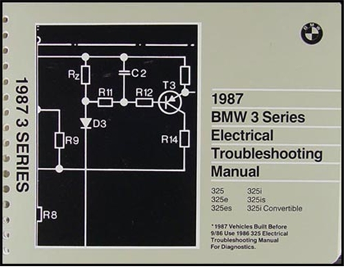 1987 BMW 3-Series Electrical Troubleshooting Manual Orriginal