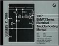 1987 BMW 3-Series (325) Electrical Troubleshooting Manual First Edition
