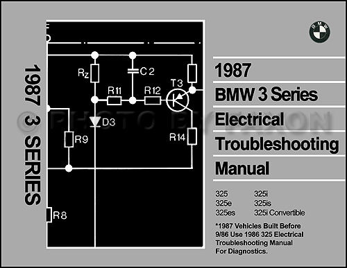 1987 BMW 325 Series Electrical Troubleshooting Manual Reprint