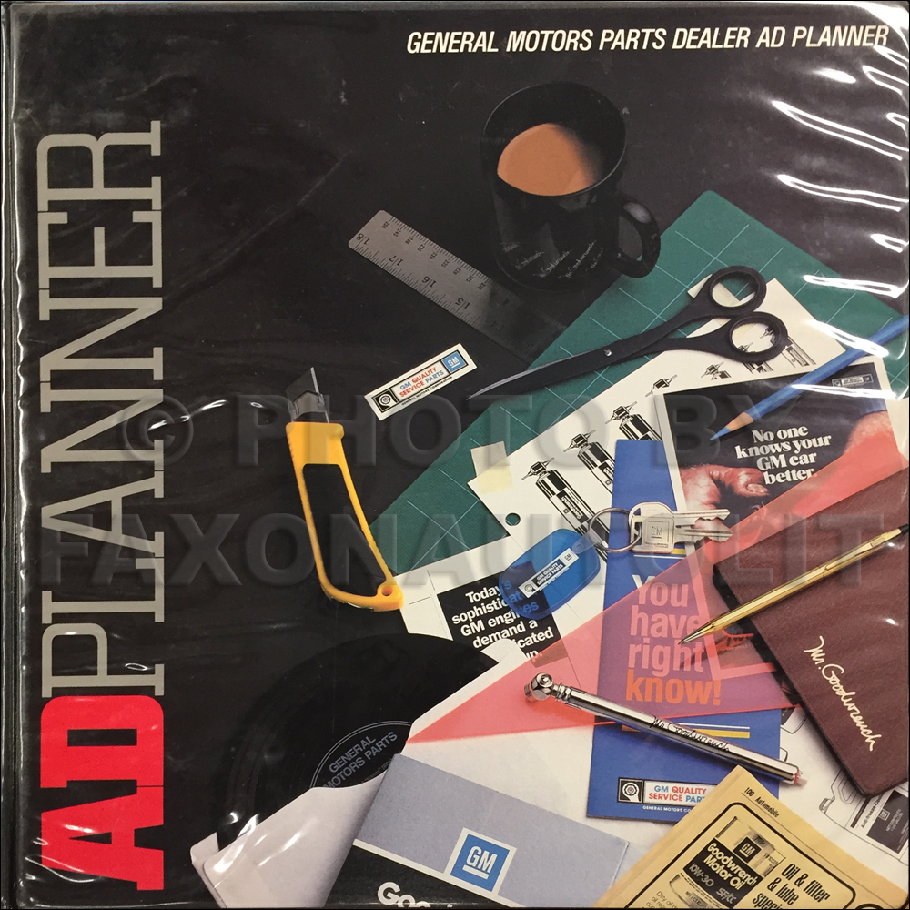 1987 GM Parts Dealer Advertising Planner Original