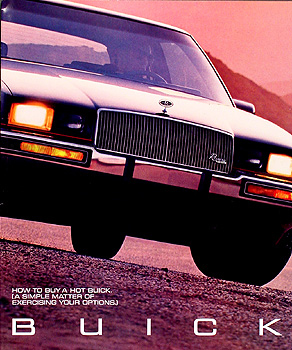 1987 Buick Original Options Sales Brochure 87 Grand National/etc