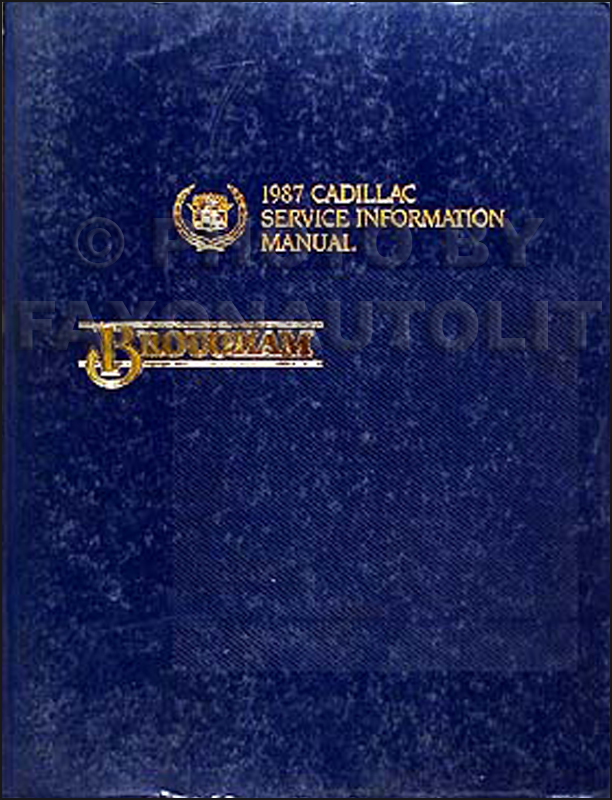 1987 Cadillac Brougham Shop Manual Original