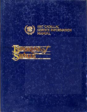 1987 Cadillac Eldorado & Seville Shop Manual Original