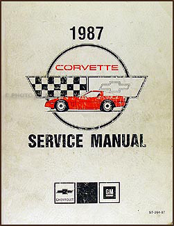 1987 Corvette Shop Manual Original