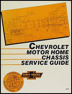 1987 Chevrolet Motor Home Repair Manual Original