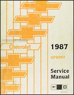 1987 Chevy Sprint Repair Shop Manual Original