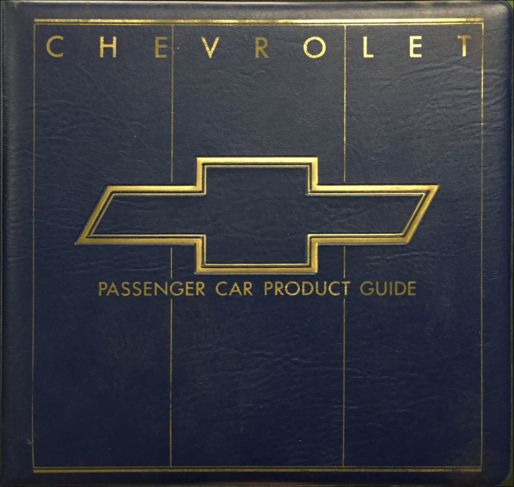 1987 Chevrolet Car Color & Upholstery Dealer Album/Data Book Original