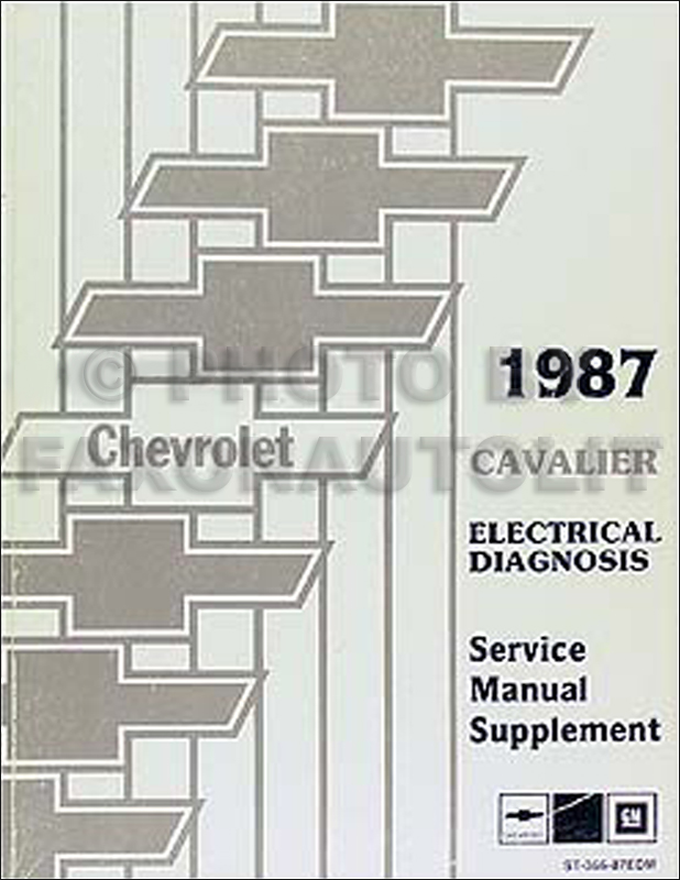 1987 Chevy Cavalier Electrical Diagnosis Manual Original