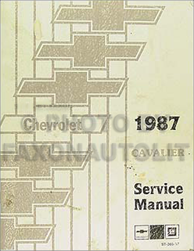1987 Chevy Cavalier Repair Manual Original