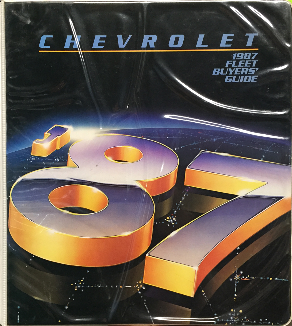 1987 Chevrolet Fleet Buyer's Guide Dealer Album Original