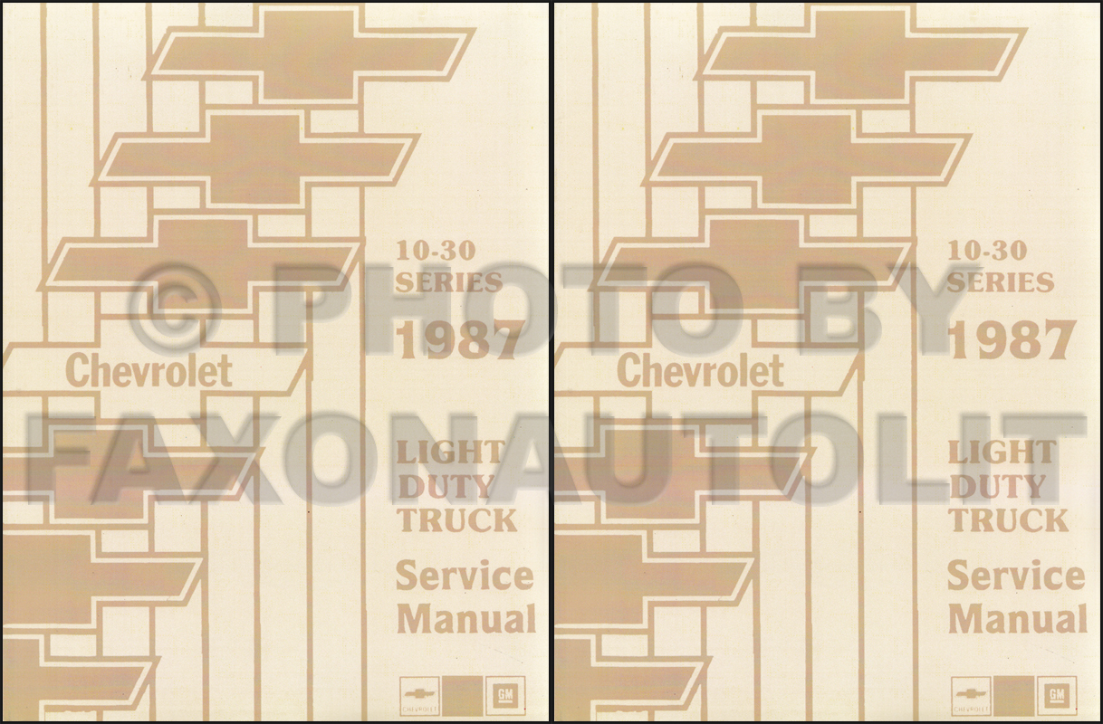 Chevrolet G20 Wiring Diagram 1987 Chevy Gmc G Van Original Truck Repair Shop Manual Reprint Pickup Blazer Suburban Fc Set