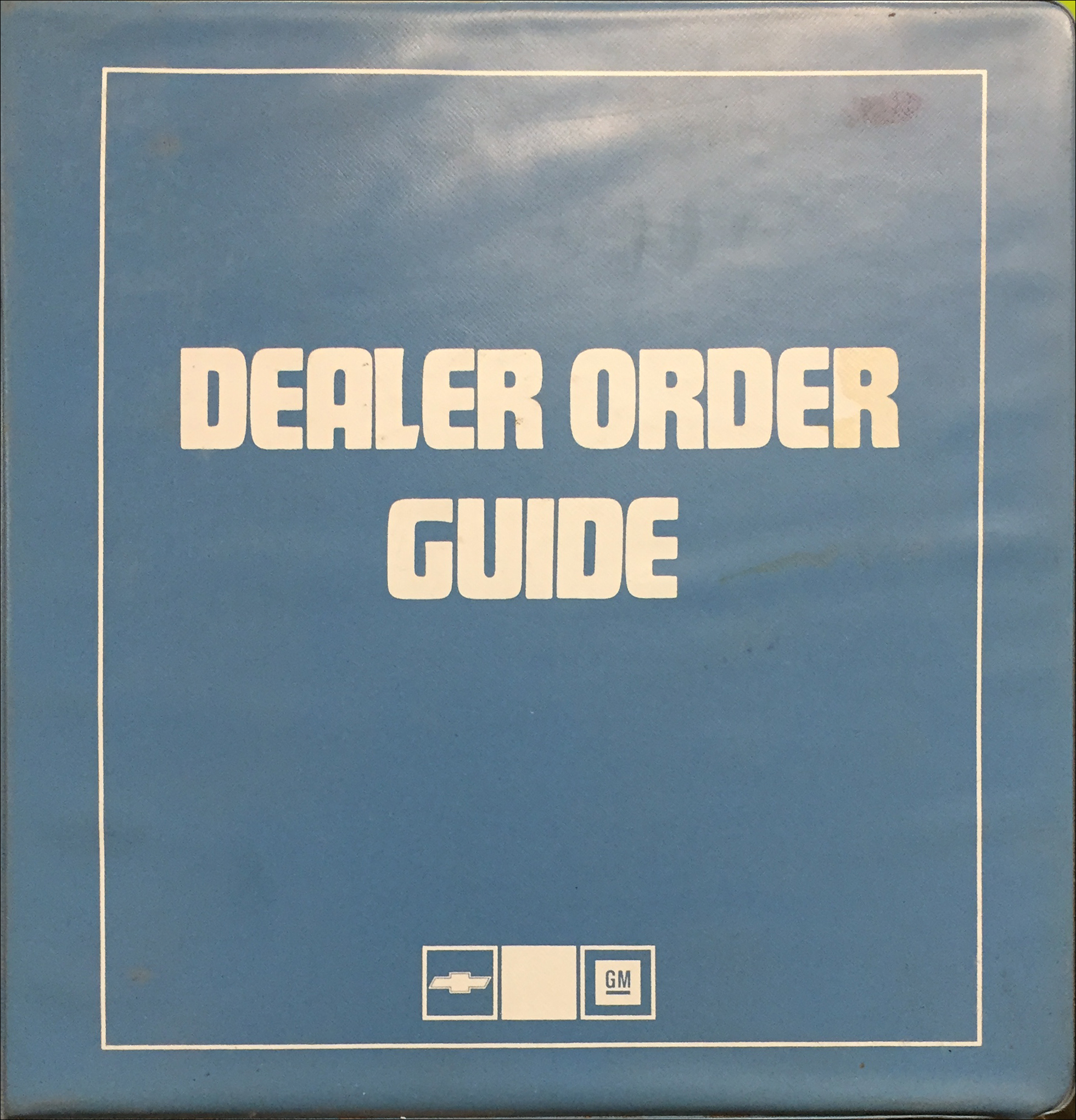 1987 Chevrolet Order Guide Dealer Album Original