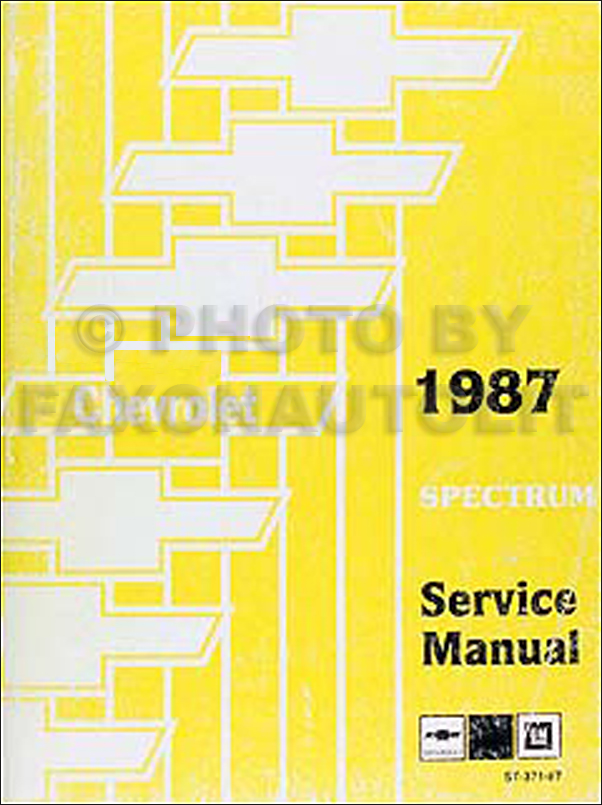 1987 Chevy Spectrum Repair Manual Original
