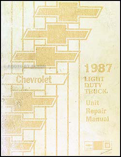 1987 Chevy 10-30 Series Truck Overhaul Manual Original