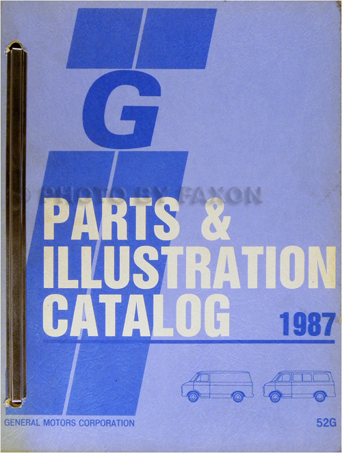 1987 Chevrolet and GMC Full-Sized G Van Parts Book Original