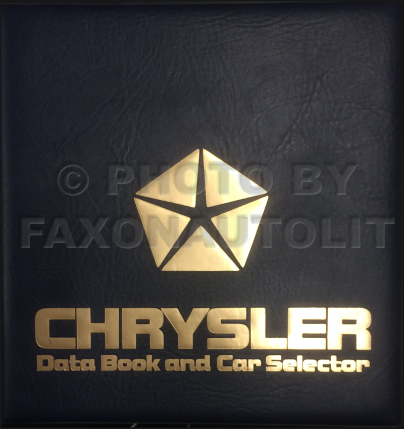 1987 Chrysler Data Book Original