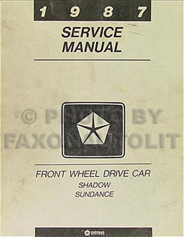 1987 Shadow Sundance Repair Manual Original