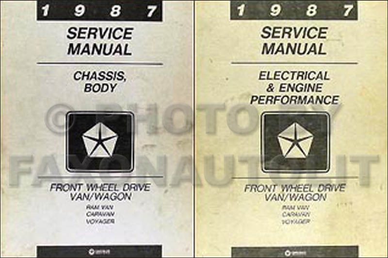 1987 Caravan and Voyager Repair Manual Original 2 Volume Set