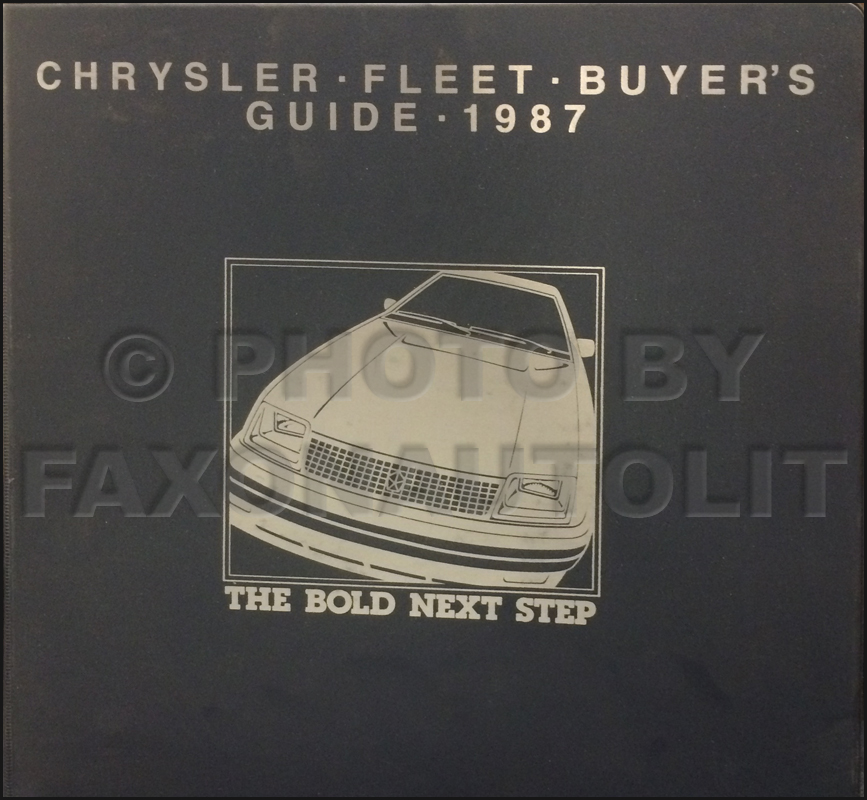 1987 Chrysler Plymouth Dodge Fleet Buyer's Guide Original