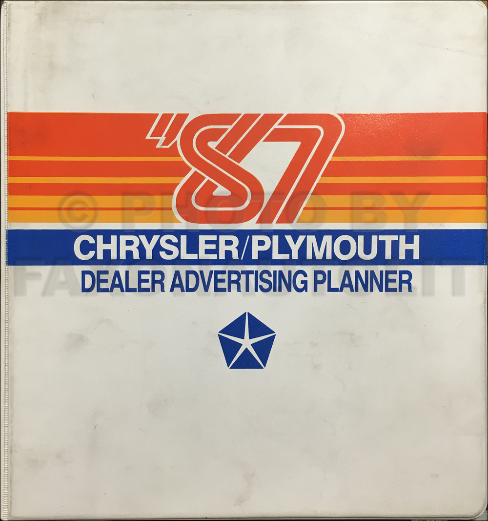 1987 Chrysler Plymouth Dealer Advertising Planner Original