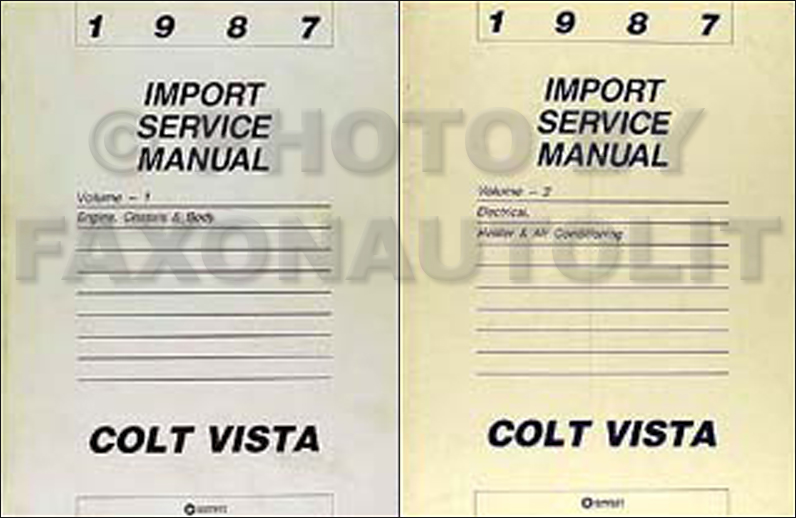 1987 Colt Vista Shop Manual Original 2 Volume Set