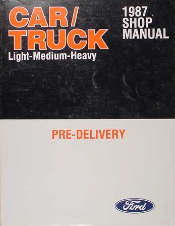 1987 Maintenance and Lubrication Manual Original Ford Lincoln Mercury