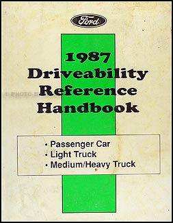 1987 Car & Truck Engine/Emissions Diagnosis Update--Drivability Reference Handbook