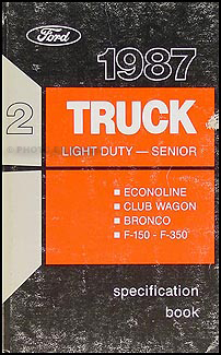 1987 Ford Pickup and Van Service Specifications Book Original