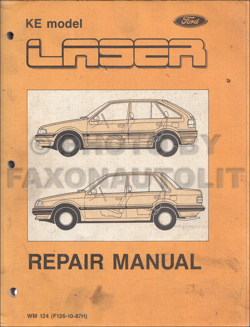 1987 Ford Laser Repair Shop Manual Original