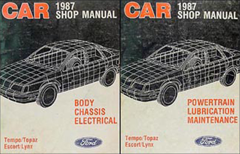 1987 Tempo Escort EXP Topaz Lynx Repair Manual Original Set of 2