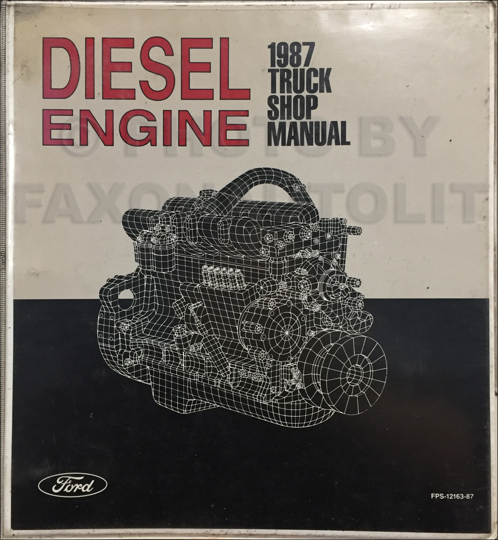 1990 Ford Truck Diesel Engine Repair Manual Original