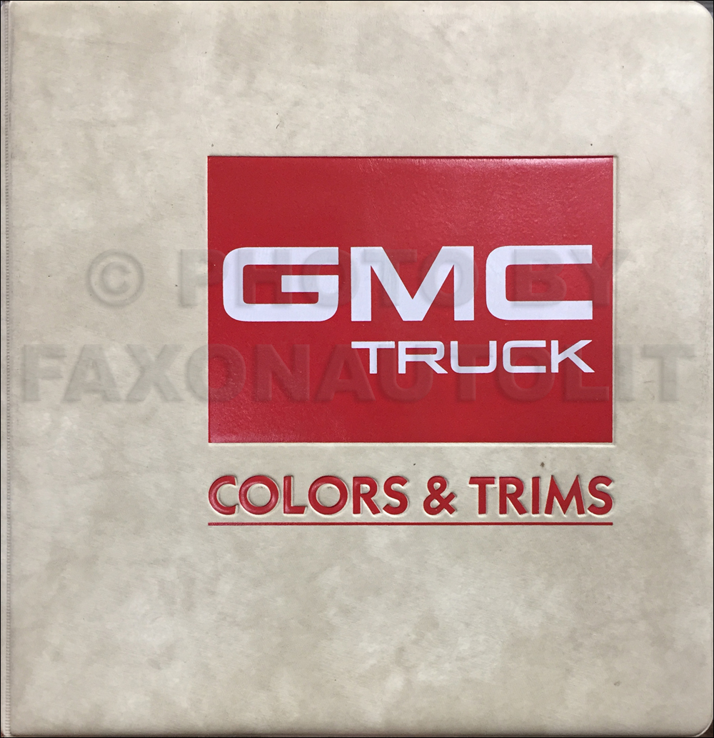 1987 GMC Color & Upholstery Dealer Album Original