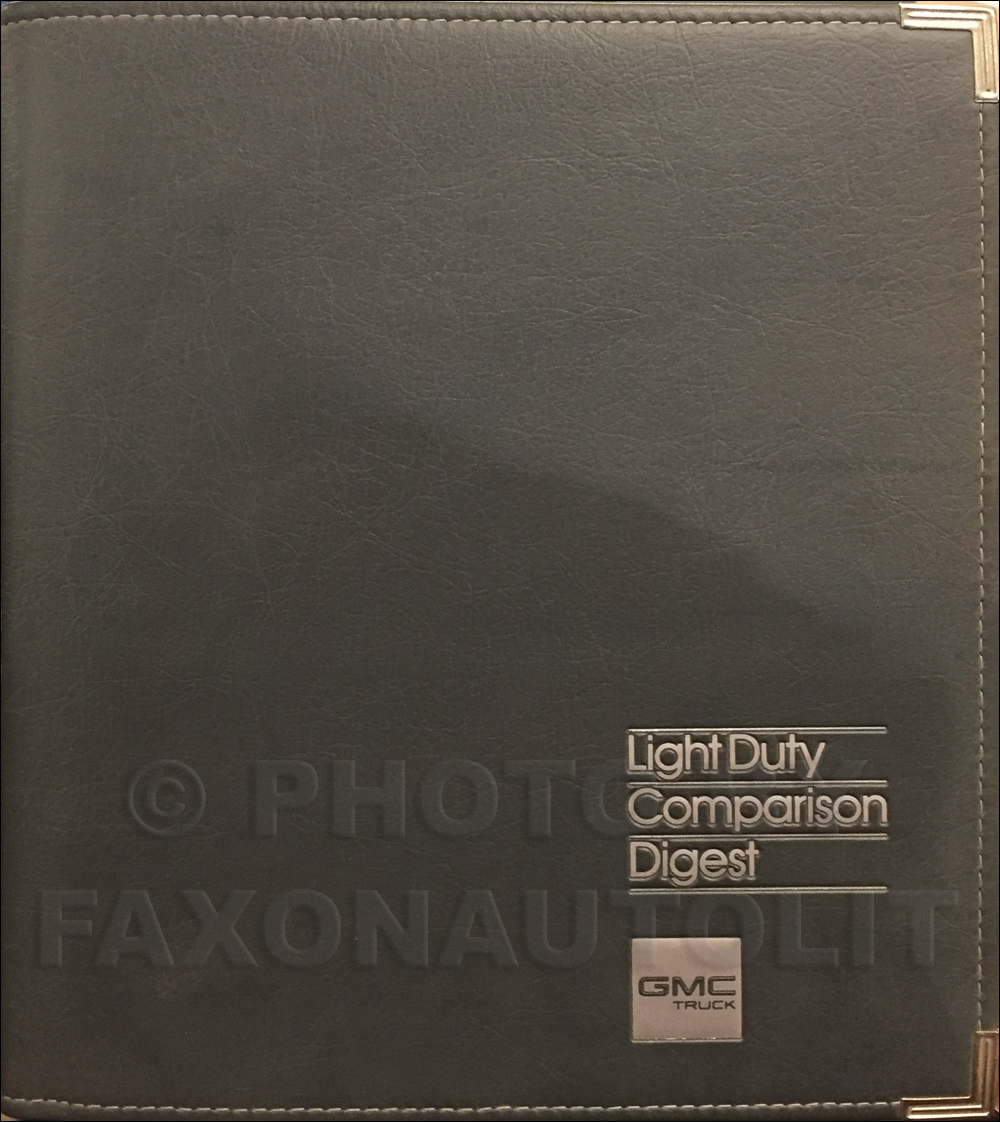 1987 GMC Light Duty Competitive Comparison Dealer Facts Book Set Original