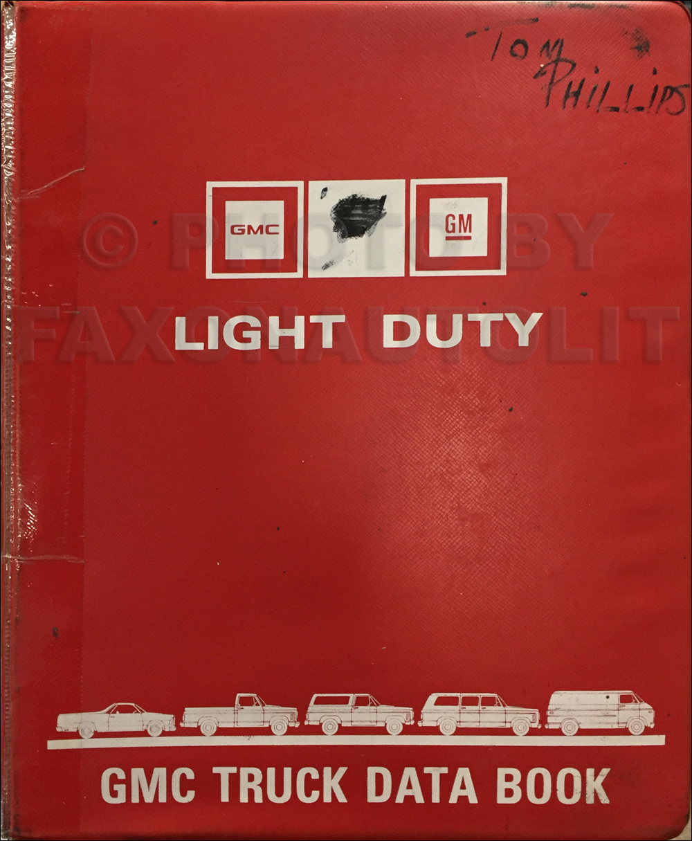 1987 GMC Light Duty Data Book Original