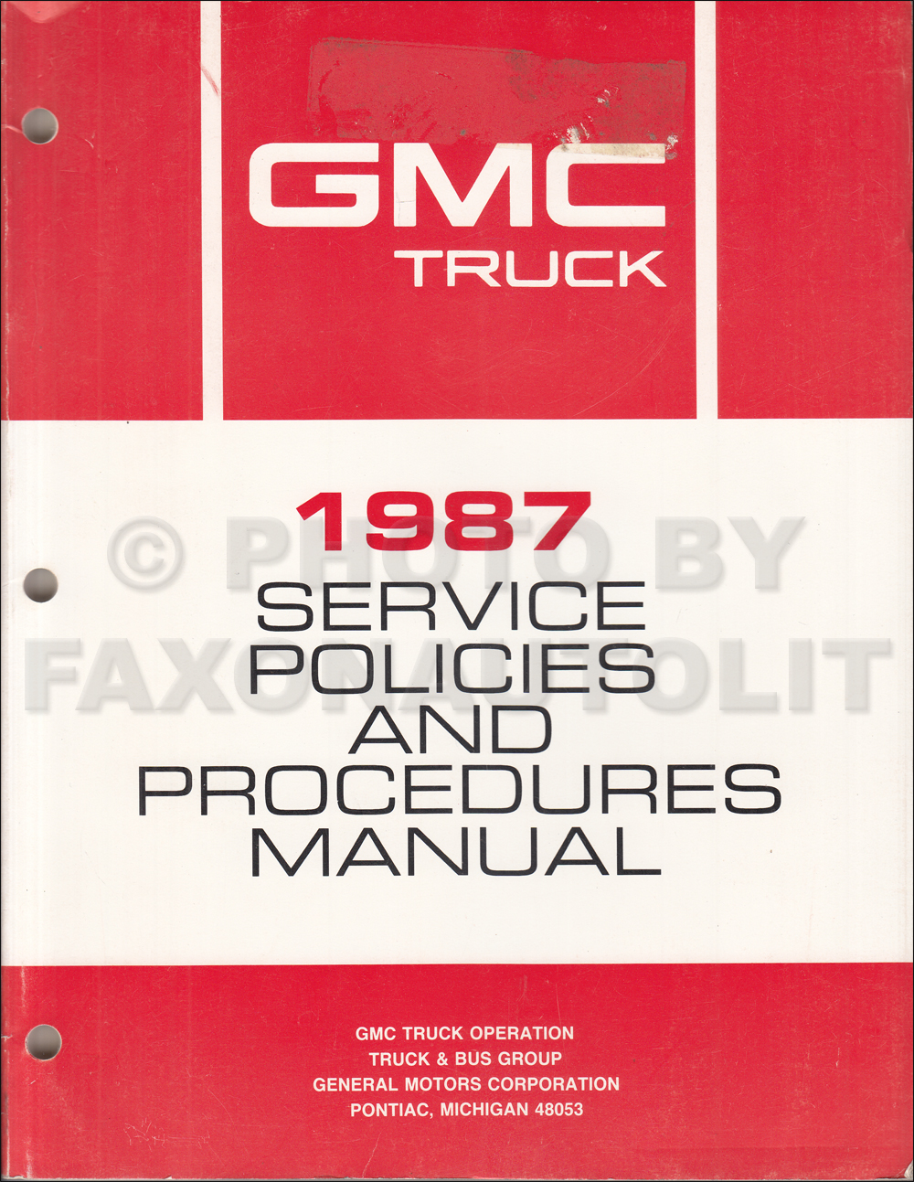 1987GMCPoliciesProceduresManual  Gmc Truck Wiring Diagram on pickup trailer, 2500hd trailer, savana van, tail light, yukon xl,