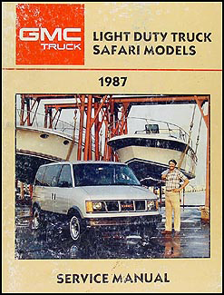 1987 GMC Safari Van Shop Manual Original