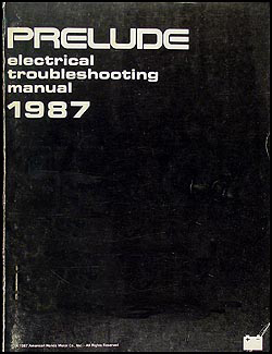 1987 Honda Prelude Electrical Troubleshooting Manual Original
