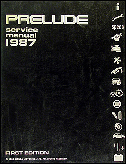 1987 Honda Prelude Repair Manual Original