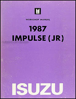 1987 Isuzu Impulse Repair Manual Original