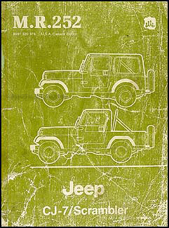 1984 Jeep CJ-7 & Scrambler Shop Manual Original M.R.252