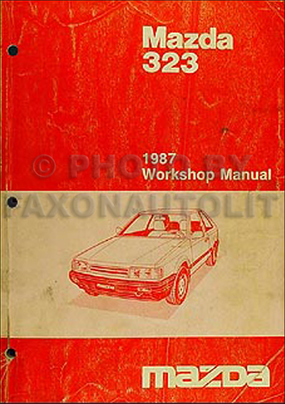 1987 Mazda 323 Sedan And Hatchback Wiring Diagram Manual
