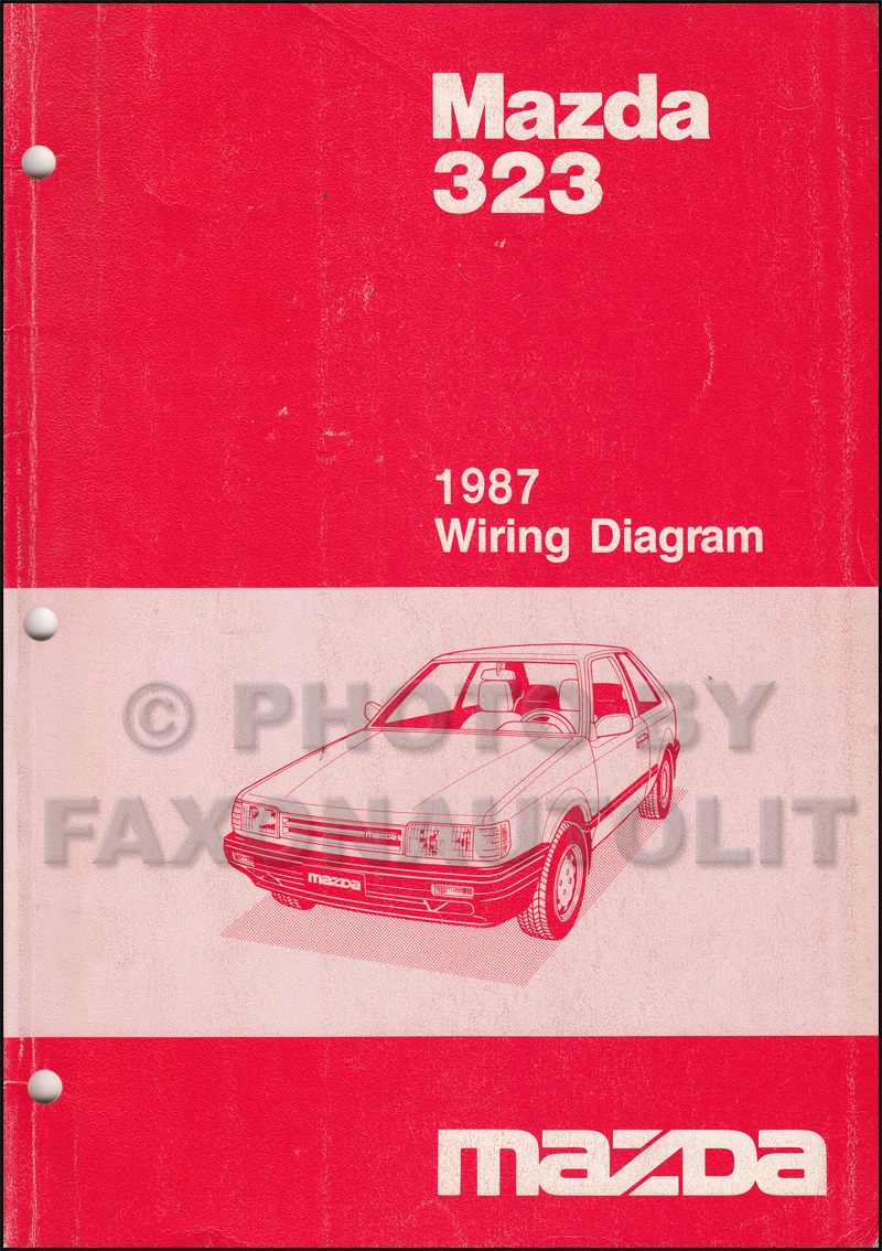1987 Mazda 323 Sedan and Hatchback Wiring Diagram Manual Original