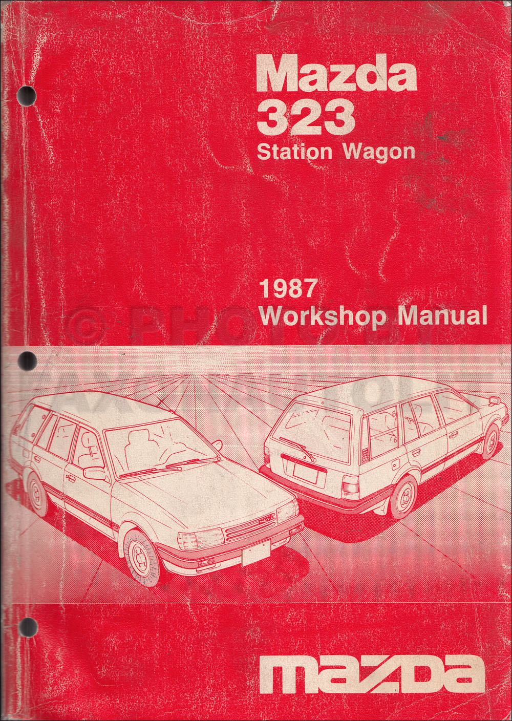 1987 Mazda 323 Station Wagon Repair Manual Original