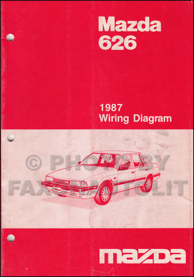 1987 mazda 626 wiring diagram manual original Mazda 626 Radio Wiring Diagram
